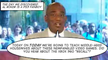 Al Roker discovers Xbox 'recall' on Today Show