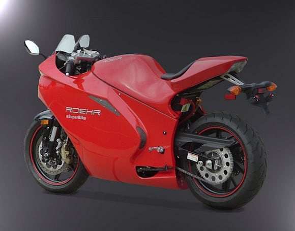 Roehr Motorcycles releases the eSuperBike, the fastest electric motorcycle money can buy