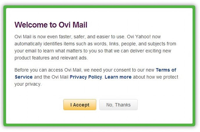 Nokia's Ovi Mail relocates to Yahoo, takes the scenic route to get there