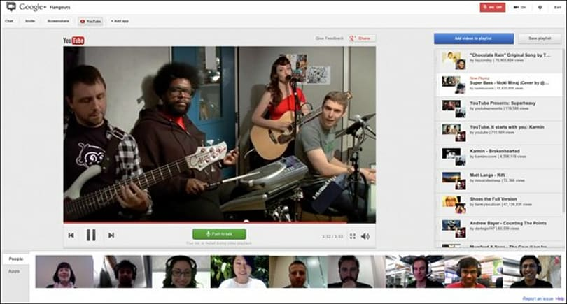 Google+ adds YouTube party app, lets you inflict cat videos on everyone