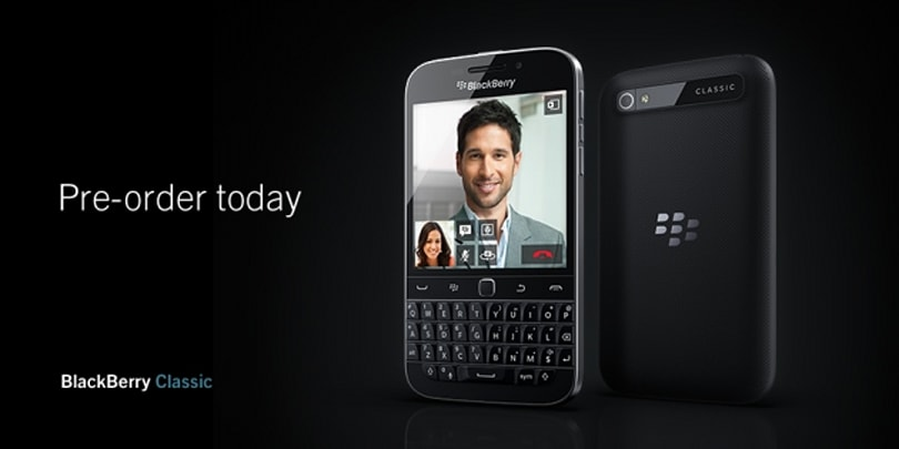 Blackberry fans line up here: pre-orders for the new Classic are open