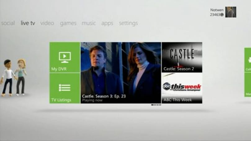 Xbox 360 'New Dashboard' captured on video, Kinect and all