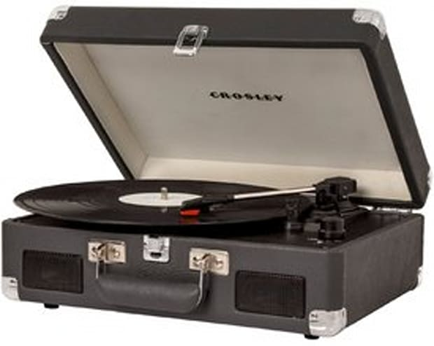 Portable Battery Powered 3-Speed Turntable