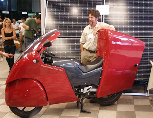 Solar powered motorcycle now an impractical reality