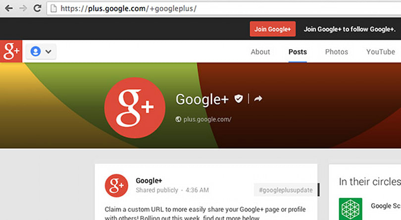Google+ expands custom URLs to more people, commoners included