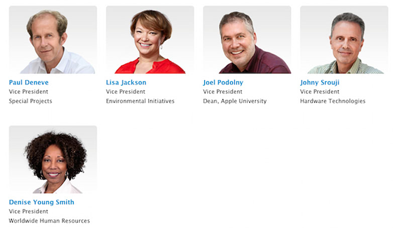 Apple updates executive profiles page with more execs and diversity