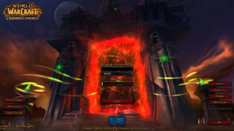 Warlords of Draenor Beta: New Login Screen