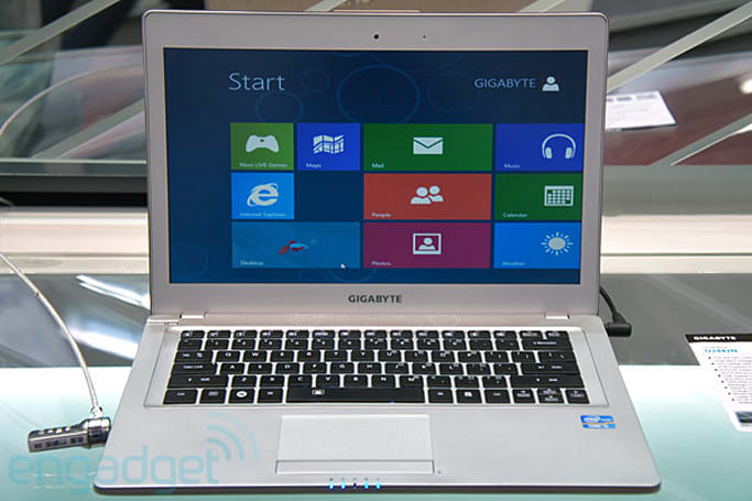 Gigabyte U2442 Ultrabook hands-on (video)