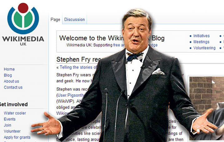 Wikipedia to store famous voices for posterity, starting with Stephen Fry's