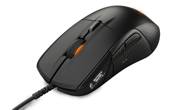 The Rival 700 is a modular gaming mouse with an LCD screen