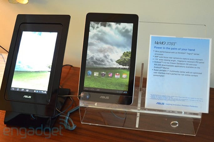 ASUS Eee Pad MeMO ME171, ME370T and high-end Transformer Prime TF700T revealed