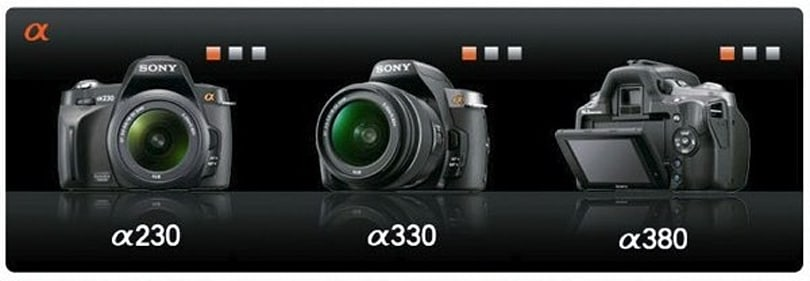 Sony confirms new Alpha 230, 330 and 380 mainstream DSLRs