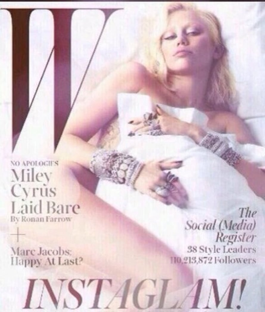 Leaked: Miley Cyrus poses nude on 'W' Magazine cover