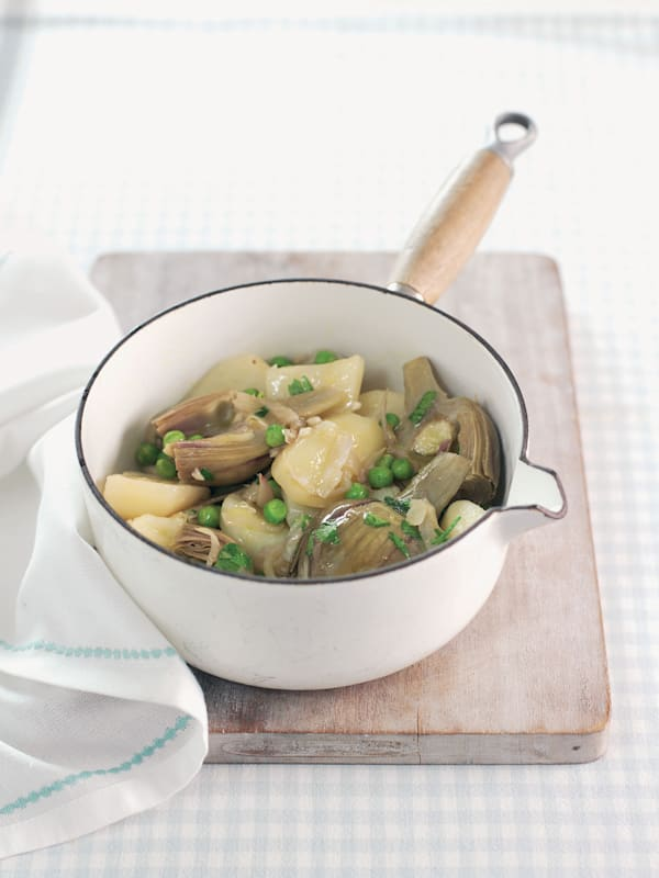 Braised Artichokes & Potatoes recipe