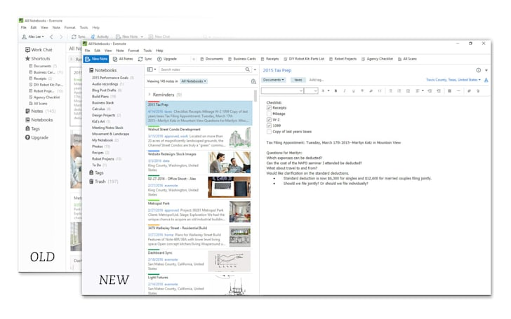 Evernote on Windows looks a whole lot cleaner now