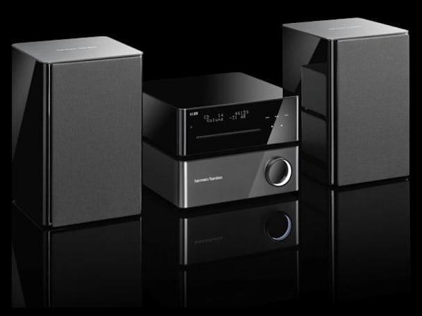 Harman Kardon's MAS 102 stereo has a petite profile, luxury looks and matching $999 price tag