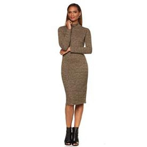 Serena Williams Heathered Ribbed Knit Dress