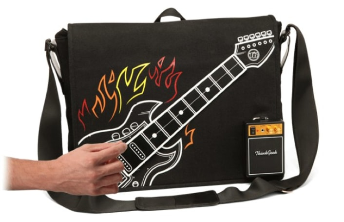 Think Geek's Electric Guitar Bag holds your laptop, lets you 'rock' the commute