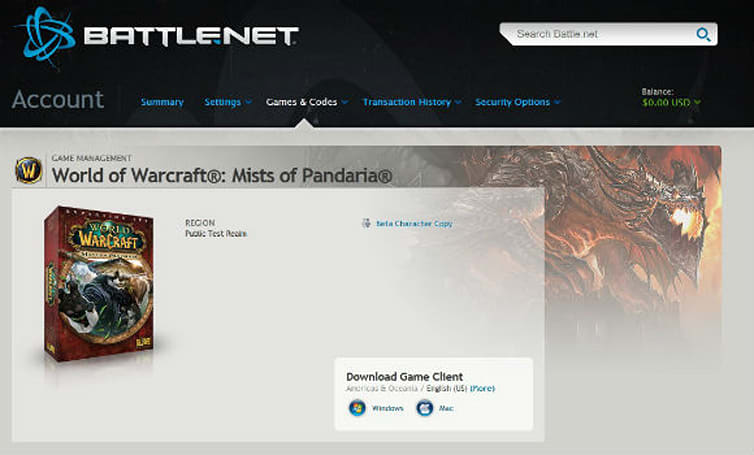Digital preorders for Mists of Pandaria available soon?