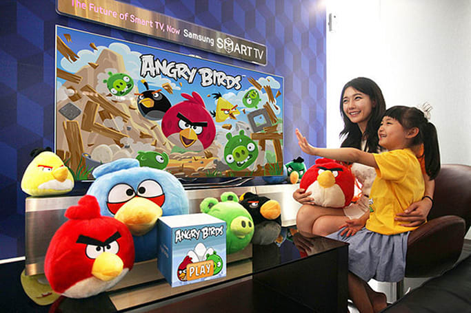 Angry Birds with gesture controls collides with select Samsung Smart TVs