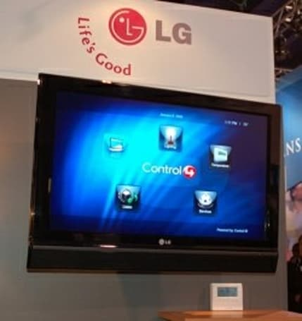 LG rolling out pro LCDs with integrated Control4 automation