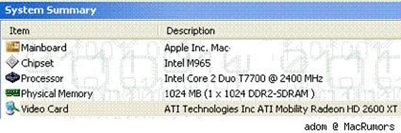 New iMac Video card stealth upgrade: mobility Radeon HD 2600 XT?