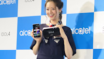 VRゴーグル付属で3万4800円のSIMフリースマホIDOL 4をアルカテルが発表。2万1800円の指紋認証搭載機種も