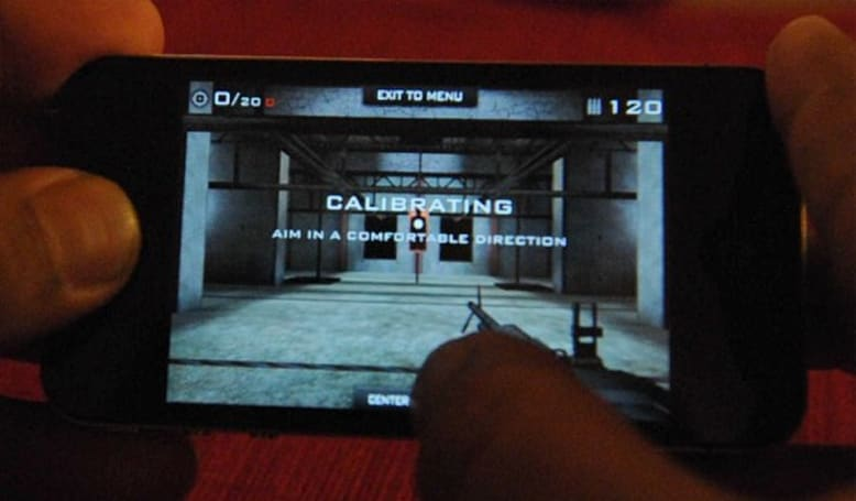 Gyroscope gunning on the iPhone 4 with Eliminate: Gun Range (video)