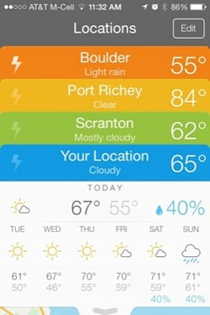 Perfect Weather for iPhone offers great-looking reports