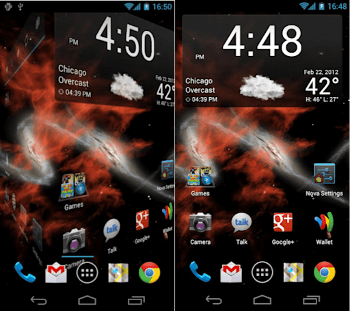 Nova Launcher hits Android Market, custom grid and scrolling effects in tow