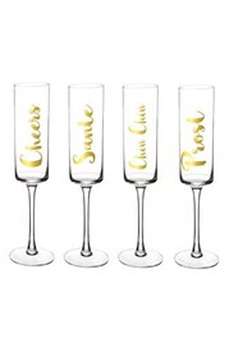 'Cheers' Champagne Flutes