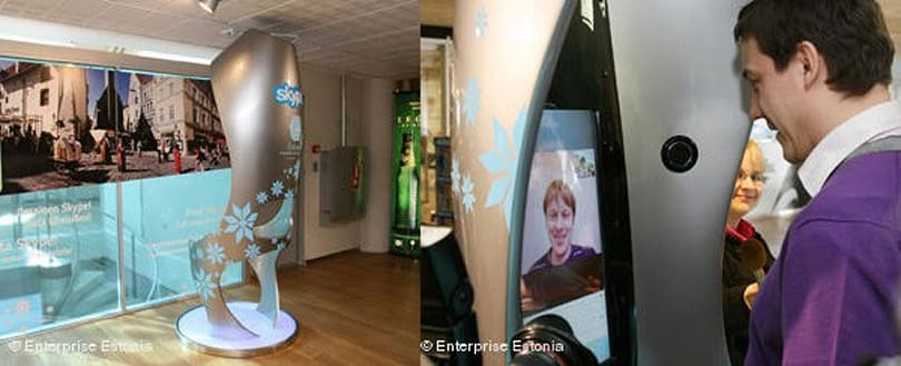 First 'Skype booth' opens at Estonian airport as company reaches 30 million simultaneous users