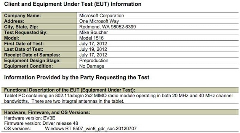 Microsoft Surface Windows 8 RT tablet hits the FCC?