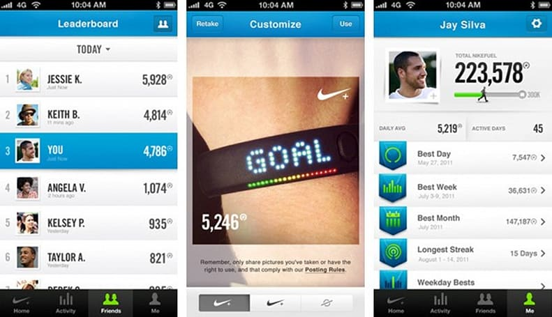 Nike+ FuelBand app for iOS adds friends and sharing, no small amount of bragging
