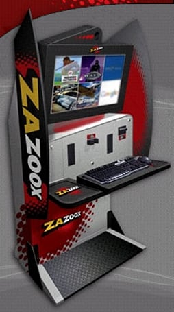 Meet Zazoox, a new Internet caf� gaming kiosk