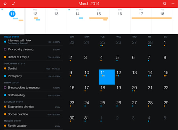 Fantastical 2 for iPhone, iPad goes iOS 8-only
