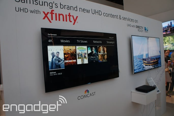 Comcast's Ultra HD app launches today -- but only on Samsung TVs