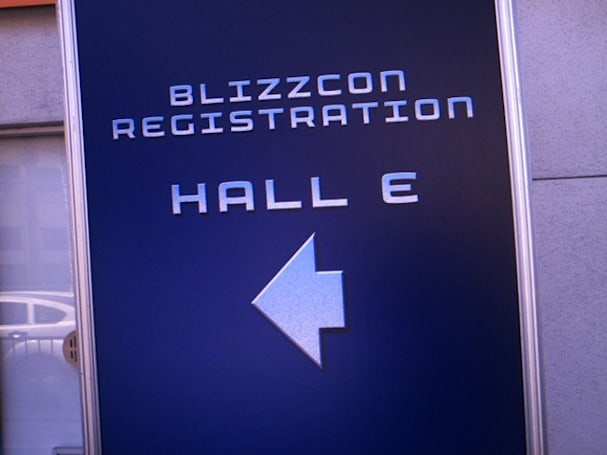 BlizzCon 2009: Lineblogging at the badge pickup