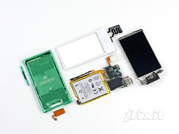 iPod nano hits iFixit's dissection slab, rated so-so on the repairability scale