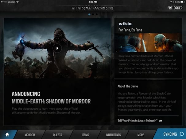 Palantir iOS app listens to you play video games, offers tips on the second screen