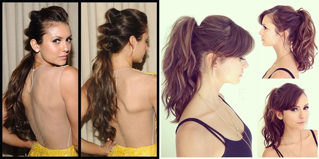 Nina Dobrev: 2 ponytail looks in 2 days — vote on your fave