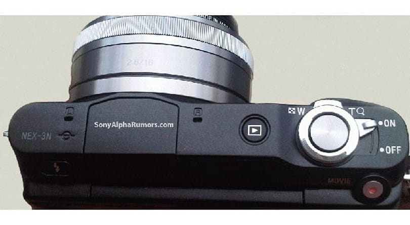 Purported Sony NEX-3N image leaks showing electronic zoom control