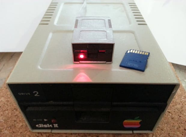 This Apple II SD card reader is retrotastic and functional