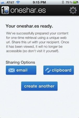 Oneshar.es: For those messages that need to stay secret