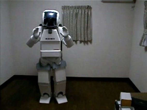Latest ASIMO prototype is made of wood, requires one human
