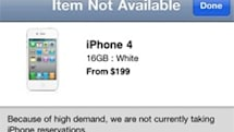 White iPhone shows up in Apple Store app