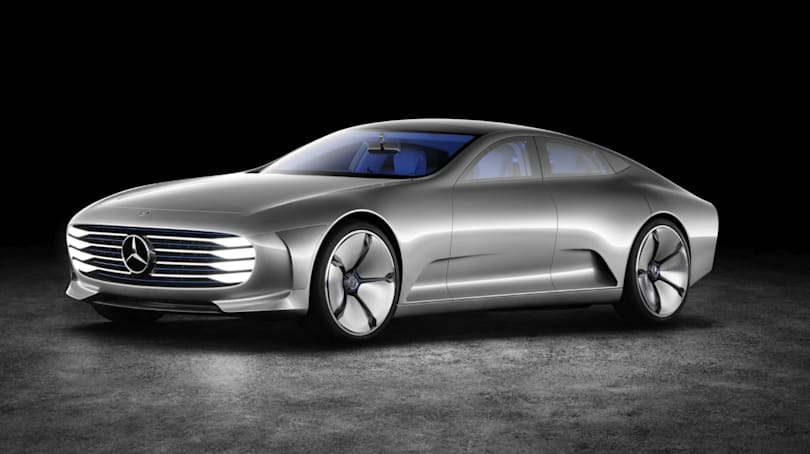 Mercedes-Benz Concept IAA is a modern silver aero