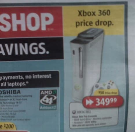Rumor: Canadian Xbox 360 price drops $50 Friday