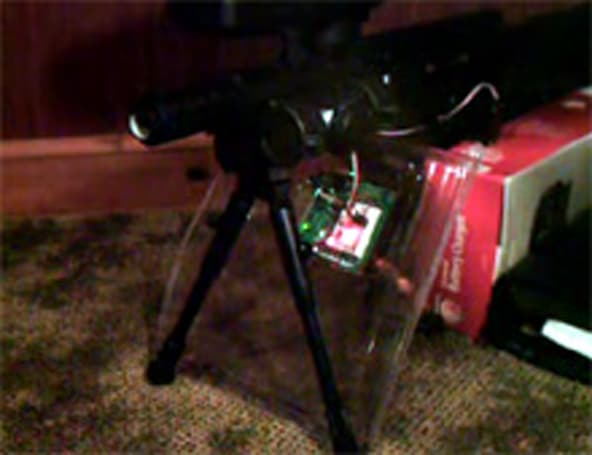 Automated paintball gun keeps the residence secure
