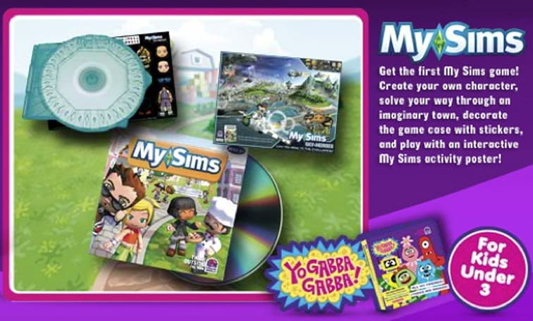 Taco Bell offering free copies of MySims with its Kid's Meals